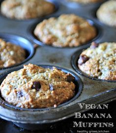 Vegan Banana Muffins - Healthy Green Kitchen Substitute flour