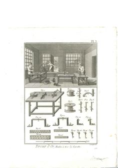 1787 N 6 Original Antique Prints Diderot Gold Thread Drawing and Weaving | eBay