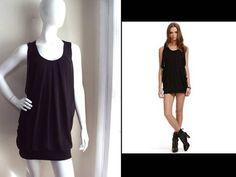 Cynthia Steffe Barneys NY Adriana Perfect Little Black Drapey Tunic Mini Dress S | eBay