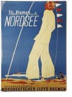 Blechplakat 30 x 40 cm:<br>Norddeutscher Lloyd ...