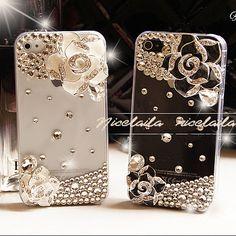 iPhone 5 case iPhone 4s case iPhone 4 cover iphone 4s cover clear iphone 4 bling case cute iphone 5 case flowers
