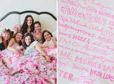 Get ready for your big day with a slumber party.