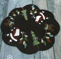 Primitive Folk Art Wool Applique Pattern  by PrimFolkArtShop, $7.75