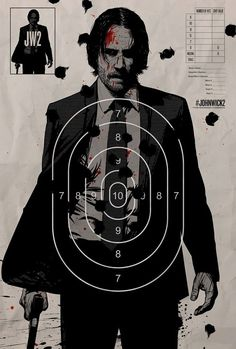 """John Wick Chapter 2 movie poster artwork for the 2017 Keanu Reeves movie """"John Wick Baba Yaga, John Wick Film, Keanu Reeves John Wick, Bon Film, Plakat Design, Alternative Movie Posters, Cinema Posters, Movie Poster Art, Movie Wallpapers"""