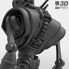 There were a lot of plans for this big guy at Makerbot, but the final fabricated product was taken over by the team at Roboto. Modeled in ZBrush and Maya. Featured concept art by Garrett Stevens: Robot Design, 3d Design, Space Opera, Character Art, Character Design, Robot Parts, Steampunk, Humanoid Robot, 3d Modelle