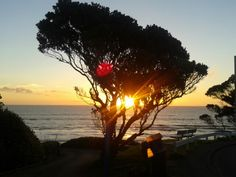 Sunset on the Kapiti coast, New Zealand