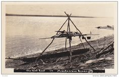 RP:Elevated Indian Grave[Cemetery] , Mackenzie River, Northwest Territories [N. Mackenzie River, Northwest Territories, Original Image, North West, Cemetery, Indiana, Postcards, Places To Visit, Fotografia