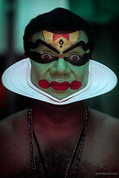 Kathakali artist with make-up