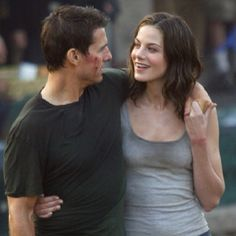 Tom Cruise and Michelle Monaghan in Mission Impossible III Ghost Protocol