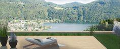 Balkon mit wunderschönen Blick auf den Millstättersee und Döbriach, Kärnten, Österreich