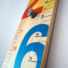 The Measure Me Stick transforms the traditional ruler into a playful, modern object for any kids' room.