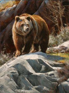 The Artwork of Edward Aldrich: North American Wildlife Paintings Bear Paintings, Wildlife Paintings, Wildlife Art, Nature Animals, Animals And Pets, Animals Tattoo, Animal Painter, North American Animals, Bear Drawing