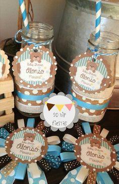 Mesa de dulces Shower Party, Baby Shower Parties, Baby Shower Themes, Baby Shower Decorations, Teddy Bear Party, Teddy Bear Baby Shower, Idee Baby Shower, Baby Boy Shower, Baby Shawer