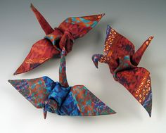 DIY Polymer Clay Origami Cranes! I've been looking for a tutorial on this~