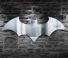 Batman Logo Mirror | gifts for geeks | batman gifts