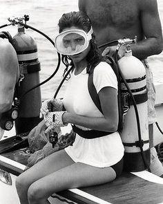 Jacqueline Bisset scuba diving in The Deep