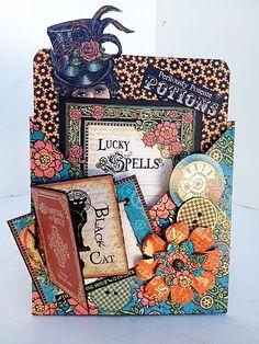 Steampunk Spells Card Ideas from Diane Schultz own workshop! #graphic45