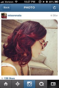 Short red ombre