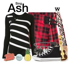 """Sing"" by wearwhatyouwatch ❤ liked on Polyvore featuring Valentino, Burberry, Proenza Schouler, Kevin Jewelers, INC International Concepts, Converse, Marby & Elm, Felt Good Co., wearwhatyouwatch and film"