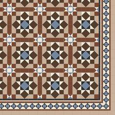Chatsworth with modified Browning - floor tile Victorian Hallway Tiles, Tiled Hallway, Hallway Flooring, Floor Patterns, Tile Patterns, Floor Ceiling, Tile Floor, Unique Flooring, Flooring Ideas