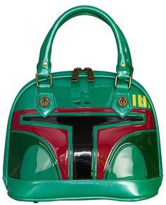 Loungefly Star Wars Boba Fett Patent Mini Dome Bag: Handbags: Amazon.com