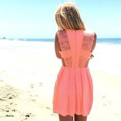 Proper Love Babydoll Dress In Neon Pink
