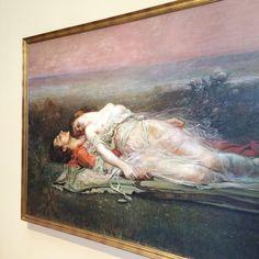Rogelio de Egusquiza, 'Tristán e Isolda' (La muerte) Museo de Bellas Artes de Bilbao.