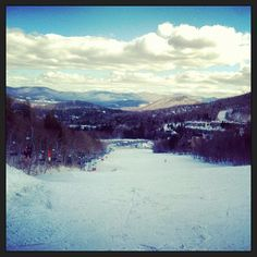 #view from the top of the bunny hill. the enemy. #sugarbush #vermont #mountains