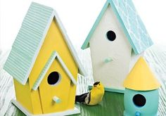 Make a decorative bird house like this pretty one from Martha Stewart. Stencil an ornate design on it to make an inviting home for the birds #DIY