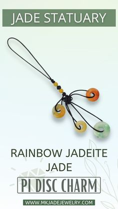 These charms are amazing gifts. You can hang them on your purse, phone case, rear view mirror, etc. This piece features yellow, red and green jade discs and yellow jade bead accents. Use discount code INSTA10JORDAN at checkout! Jade, Charmed