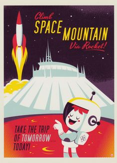 """""""The Trip of Tomorrow"""" by Dave Perillo, 5X7 postcard print, Wonderground Gallery exclusive"""