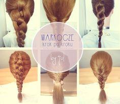 WARKOCZE krok po kroku, zbiór tutoriali - Hair by Jul- fryzury krok po kroku