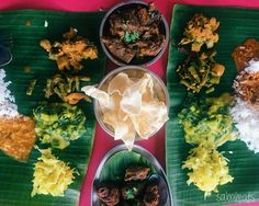 Banana leaf rice with mutton varuval and fried chicken during Chinese New Year at K Sanba Curry House Nice and yummy. K Sanba's Curry House Alamesra 7am to 8pm