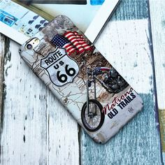 US Route 66 mit Auto Muster modisch Handyhülle für Iphone5/5s/6/6plus/7/7plus