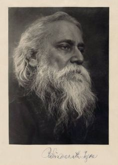 Rabindranath Tagore by Zlata Llamas from the Museum of Fine Arts, Boston.