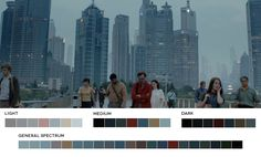 Spike Jonze's futuristic film Her had a beautiful color palette throughout, with very 60's and 70's inspired constuming.