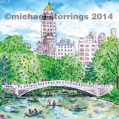 Central Park in Summer as seen in New York in Four Seasons.