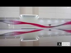 """Mirror Striped"" Designer Glass Kitchen Splashback - CreoGlass - YouTube"