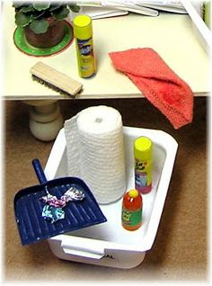 Tutorial for making miniature cleaning supplies (and other miniatures) by Creative Minds Are Rarely Tidy (Joann Swanson's DIY Miniatures)