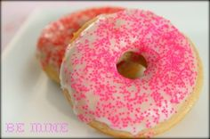Be Mine Valentine's Day Fluffy Baked Cake Donuts from MomAdvice.com.