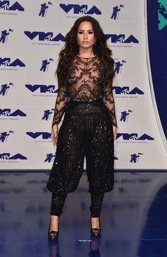 8/27/17 - Demi Lovato at the 2017 MTV Video Music Awards in LA.