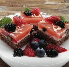 Ovocné kocky - Receptik.sk Tiramisu, Matcha, Panna Cotta, Waffles, Cheesecake, Food And Drink, Pudding, Treats, Breakfast