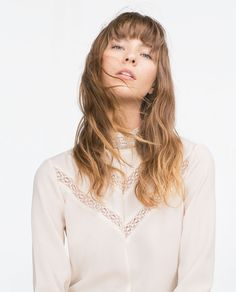 HIGH COLLAR BLOUSE-View all-Woman-NEW IN   ZARA United States
