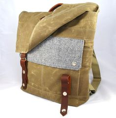 Silver Goose Waxed Canvas Backpack by WoolyBison on Etsy, $185.00