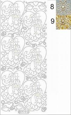 Starform sticker glitter Silver-Gold wedding/marriage 7019 - Huwelijk