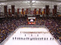 Mariucci Arena is the home to Gopher Men's Hockey located on the University of Minnesota's Minneapolis campus. Miss Minnesota, University Of Minnesota, Minneapolis Minnesota, Minnesota Gophers, Hockey World, Parking, Ice Hockey, Dream Cars, Road Trip
