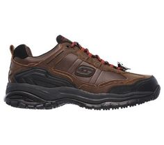 Skechers Work Men's Soft Stride Acworth Memory Foam Work Shoes (Crazy Horse)