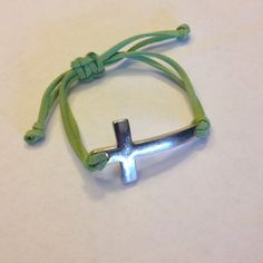 ✨ Cross Bracelet Purchased from a boutique and worn twice. {Adjustable} •Negotiable• Jewelry Bracelets