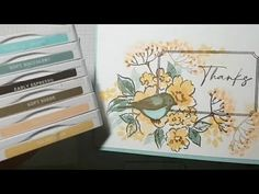 ❤How to STAMP a single layer CARD bird in a frame #kis #simplestamping #stampinup - YouTube Special Birthday Cards, Scrapbooking, Bird On Branch, Bird Cards, Unique Cards, Color Card, Flower Cards, Stampin Up Cards, Paper Crafts