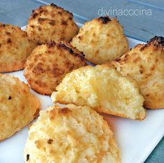 Estas sultanas de coco se pueder aromatizar con ralladura de limón o naranja, una cucharadita de esencia de vainilla u otro ingrediente a tu gusto